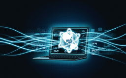 Internet broadband Laptop Stock Image