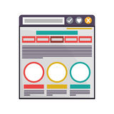 Internet browse window Stock Photography
