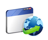 Internet browser concept illustration Royalty Free Stock Images