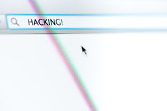 Internet Browser Hacking Royalty Free Stock Image