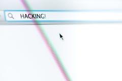Internet-Browser het Binnendringen in een beveiligd computersysteem Royalty-vrije Stock Afbeelding