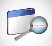 Internet browser and magnify search bar Stock Photography
