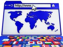 Internet browser vector illustration