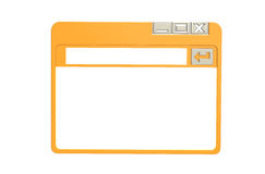 Internet Browser Window. Simplified. Orange isolated on white Stock Photo