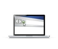 Internet-Browser Window auf einem Bildschirm Stockfoto