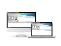 Internet browser window on a computer screen Royalty Free Stock Photography