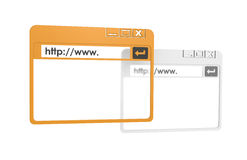 Internet Browser Windows. Simplified. Orange and Gray isolated on white Stock Photo