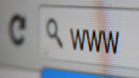 Internet browser www address bar stock video footage