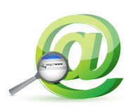 Internet-Browsersuchkonzept Lizenzfreie Stockbilder