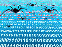 Internet bugs Stock Photography