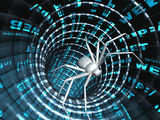 Internet bugs. Penetration into a computer of a virus from Internet Royalty Free Stock Photos