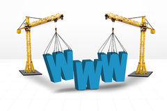 Internet building website concept Stock Photography