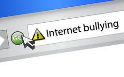 Internet bullying concept. browser illustration Royalty Free Stock Image