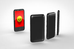 Internet bullying. Harassment on cellular phone Royalty Free Stock Photos
