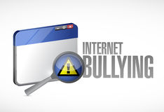 Internet bullying sign and browser concept Stock Image