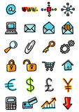 Internet and busines icons royalty free stock images