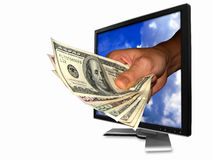 Internet business. You can make money from the internet Stock Photo