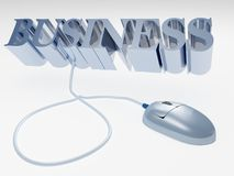 Internet business concept with computer mouse Stock Photos