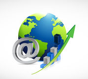 Internet business concept illustration Stock Images
