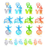 Internet business Icon sets. Creative Icon Design Series. Royalty Free Stock Photo