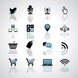 Internet-business icons Royalty Free Stock Photo