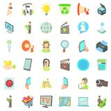 Internet business icons set, cartoon style. Internet business icons set. Cartoon style of 36 internet business vector icons for web isolated on white background Royalty Free Stock Image