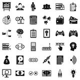 Internet business icons set, simple style. Internet business icons set. Simple style of 36 internet business vector icons for web isolated on white background Stock Photography