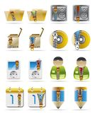 Internet, Business and Office Creative Icons Royalty Free Stock Photography