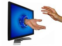 Internet business partner stock image