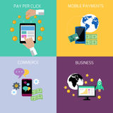 Internet business and payment concept icons Stock Image