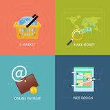Internet business and payment concept icons Royalty Free Stock Image
