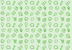 Internet business seamless icon pattern Stock Image