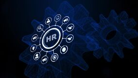 Internet, business, Technology and network concept.Human Resources HR management concept