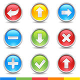 Internet buttons Stock Photo
