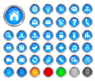 Internet buttons Royalty Free Stock Photography