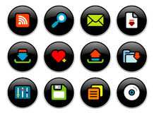Internet buttons Stock Image