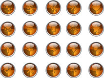 Internet buttons. Orange vector illustration Royalty Free Stock Photos