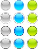 Internet buttons. Royalty Free Stock Photography