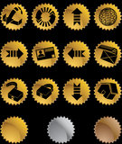 Internet Buttons - Gold Seal Royalty Free Stock Images
