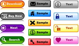Internet buttons. [Vector] Stock Photography