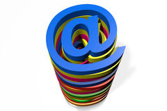 Internet, buzzword - e-mail symbol, @, post Stock Photo