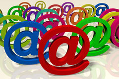 Internet, buzzword - e-mail symbol, @, post Stock Photography