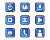 internet cable logo and symbols stock illustration
