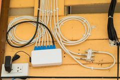 Internet cables box set.  Royalty Free Stock Image