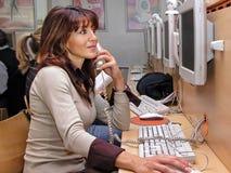 Internet Café Arkivbild