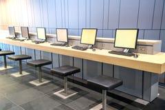 Internet Café Fotografia Stock