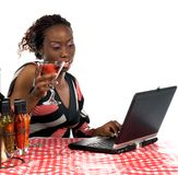 Internet Cafe stock image