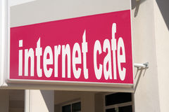 Internet cafe Royalty Free Stock Image