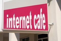 Internet cafe Royalty Free Stock Image