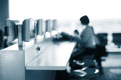 Internet cafe Stock Images
